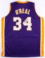Shaquille O'neal Signed Purple Los Angeles Lakers Jersey JSA