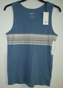 Details about GOODFELLOW & CO  STANDARD FIT BLUE BEAM SLEEVELESS TOP SIZE  SMALL # T-1061