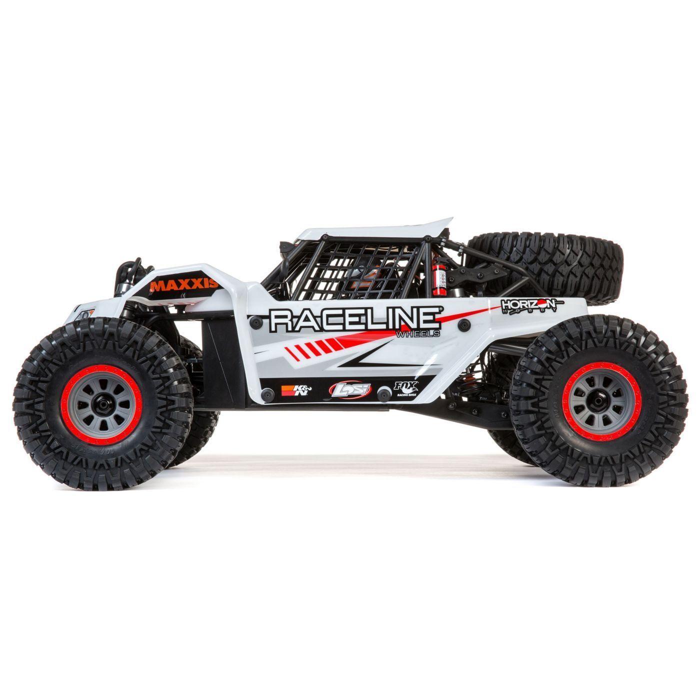 1 6 Super Rock Rey 4WD sin escobillas rocas carreras RTR con AVC, Raceline En Stock blancoo