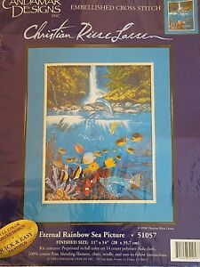Eternal-Rainbow-Sea-Picture-CANDAMAR-DESIGNS-Cross-Stitch-Kit-51057-Unopened