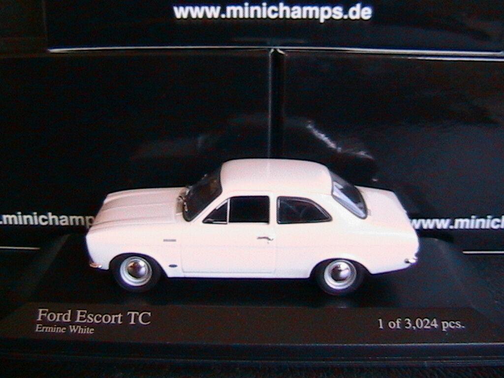 FORD ESCORT I TC TWINCAM 1968 ERMINE blanc MINICHAMPS 400081070 1 43 RHD RIGHT