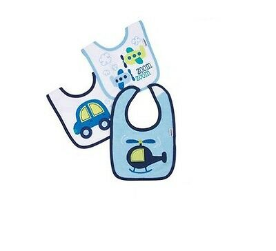 Gerber Baby Boys 3-Pack Blue Plane//Cars Bibs BABY CLOTHES SHOWER GIFT