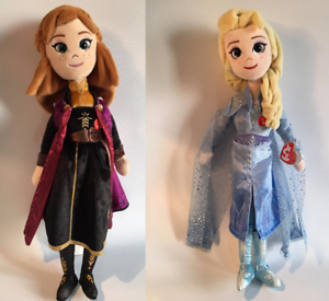 TY-DISNEY-FROZEN-ANNA-amp-ELSA-SOFT-DOLL-TOY-LAUGHING-SOUNDS-16-034-41CM-NEW