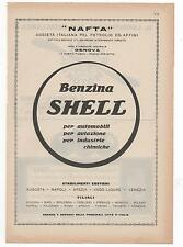 Pubblicità epoca BENZINA SHELL AUTO CAR GENOVA advert werbung publicitè reklame