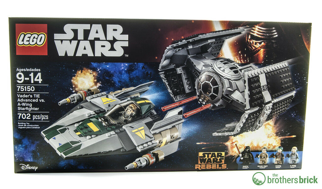 Lego 75150 Star Wars - Vader's TIE Advanced vs A-Wing Starfighter BRAND NEW BNIB
