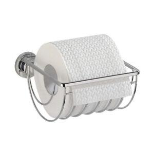 WENKO-Edelstahl-Bad-Toilettenpapierhalter-WC-Rollenhalter-Klopapierhalter