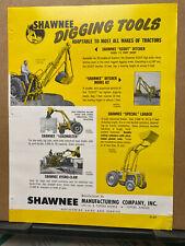 Vtg Shawnee Mfg Co Brochure Digging Tools Loader Ditcher Scout 62 Blade 1958