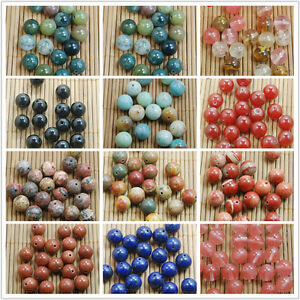 4-6-8-10MM-Wholesale-Natural-Gemstone-Round-Smooth-Spacer-Loose-Beads-Charms-DIY