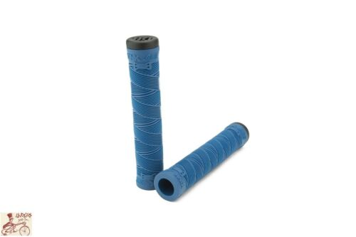 KINK BIKES ACE SONIC BLUE FLANGELESS BICYCLE SCOOTER FIXED GRIPS