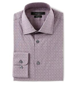 John-Varvatos-Star-USA-Men-039-s-Long-Sleeve-Check-Dress-Shirt-Regular-Fit-Wine
