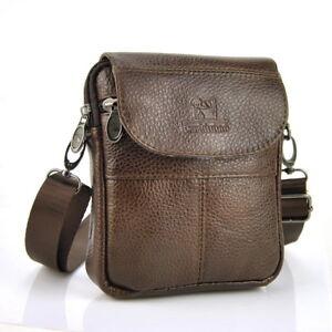 6f34d75508da Image is loading Men-Women-Genuine-Leather-Small-Bags-cross-body-