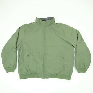 LL-Bean-Warm-Up-Jacket-Mens-2XL-XXL-Fleece-Lined-Green