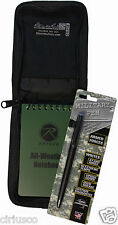 """All Weather Tactical 3""""x5"""" Notebook, Black Cover & Fisher Military Space Pen Kit"""