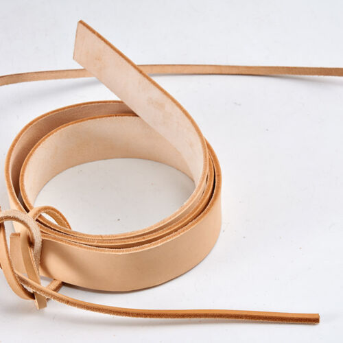 "Veg Tanned Natural Leather Straps Belt Blanks 41/""-43/"" 9//10 oz"