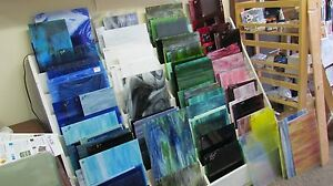 VARIETY-PACK-8x10-FIFTEEN-pieces-of-STAINED-GLASS-mixed-colors-and-textures