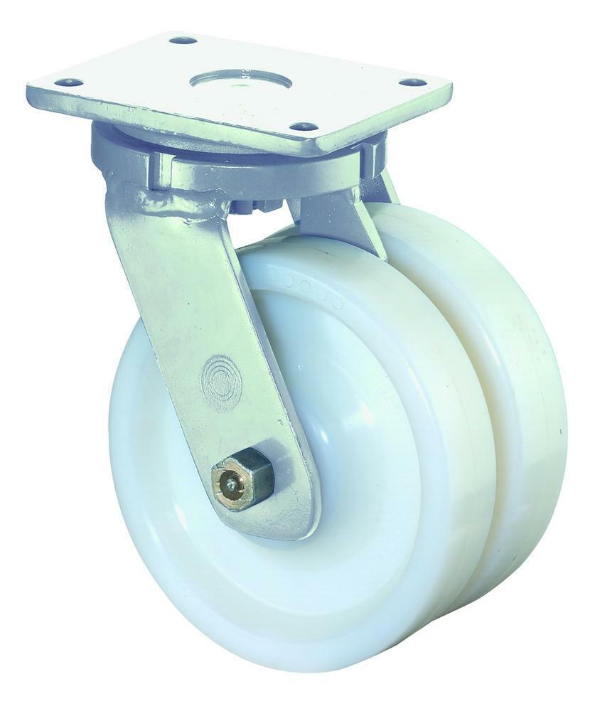 Schwerlastdoppelrolle, Ø 125 mm, Breite  2x50 mm, 1400 kg