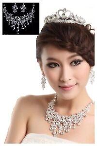 26d Dainty Pearl & Crystal Necklace & Earrings Jewelry Set For Women Bridesmaids Uhren & Schmuck Halsketten & Anhänger
