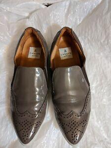LANVIN en bleu  Shoes size 26 1/2, US 7.5 taupe patent wingtip flats