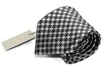 """$260 Tom Ford 100% Silk Brownish Gray Silver Black Check Hand Made Tie 3 1/4"""""""