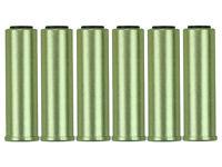 Hfc Metal Airsoft Gas Revolver Cartridge Brass Shells 6pk For Hg 132/3