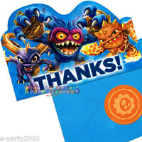 Skylanders Thank You Notes (8) Birthday Party Supplies Stationery Cards Thanks