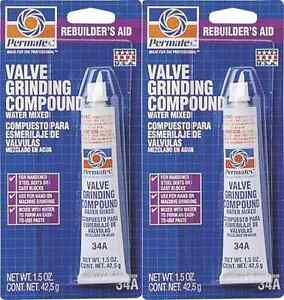 (2) Permatex 80036 #34A Valve Grinding Compound 1.5oz Removes Surface Defects *