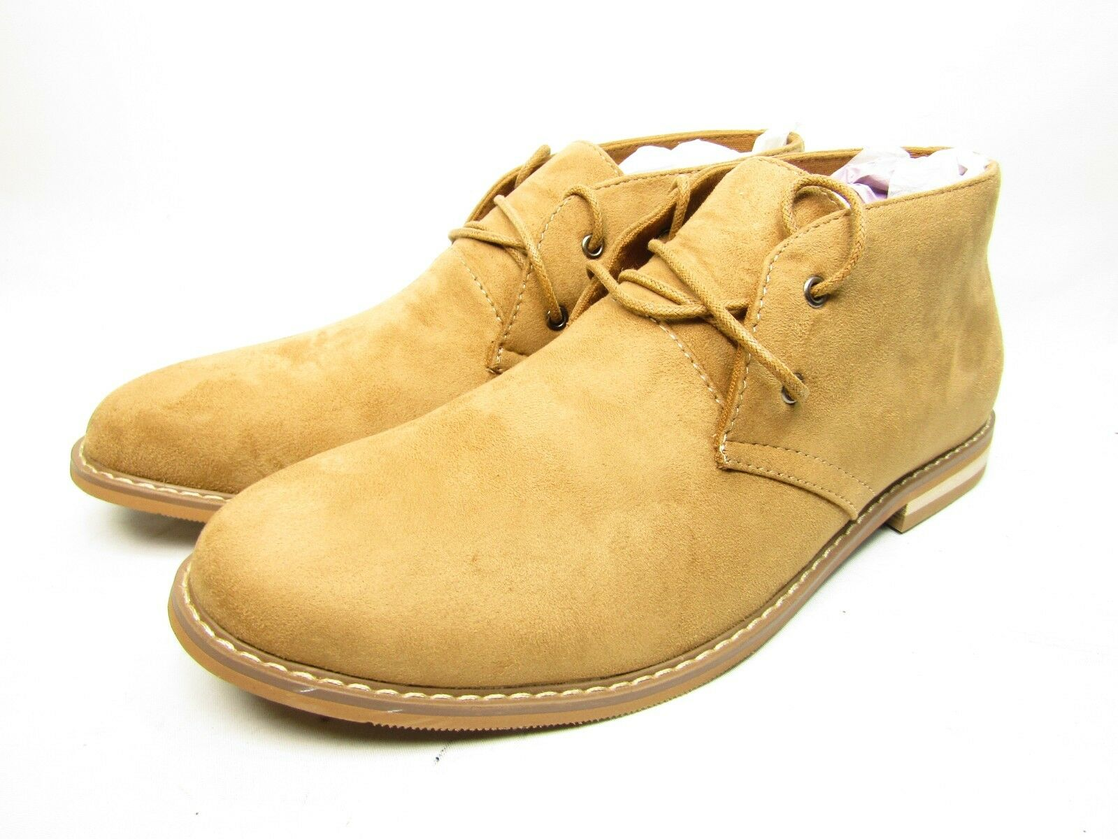 Vance Co. Men's 'Manson' Lace-up Faux Suede High Top Chukka Boots Tan Size 10