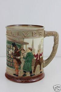 Royal-Doulton-Charles-Dickens-Oliver-Twist-Story-Large-Tankard-Mug-c1949