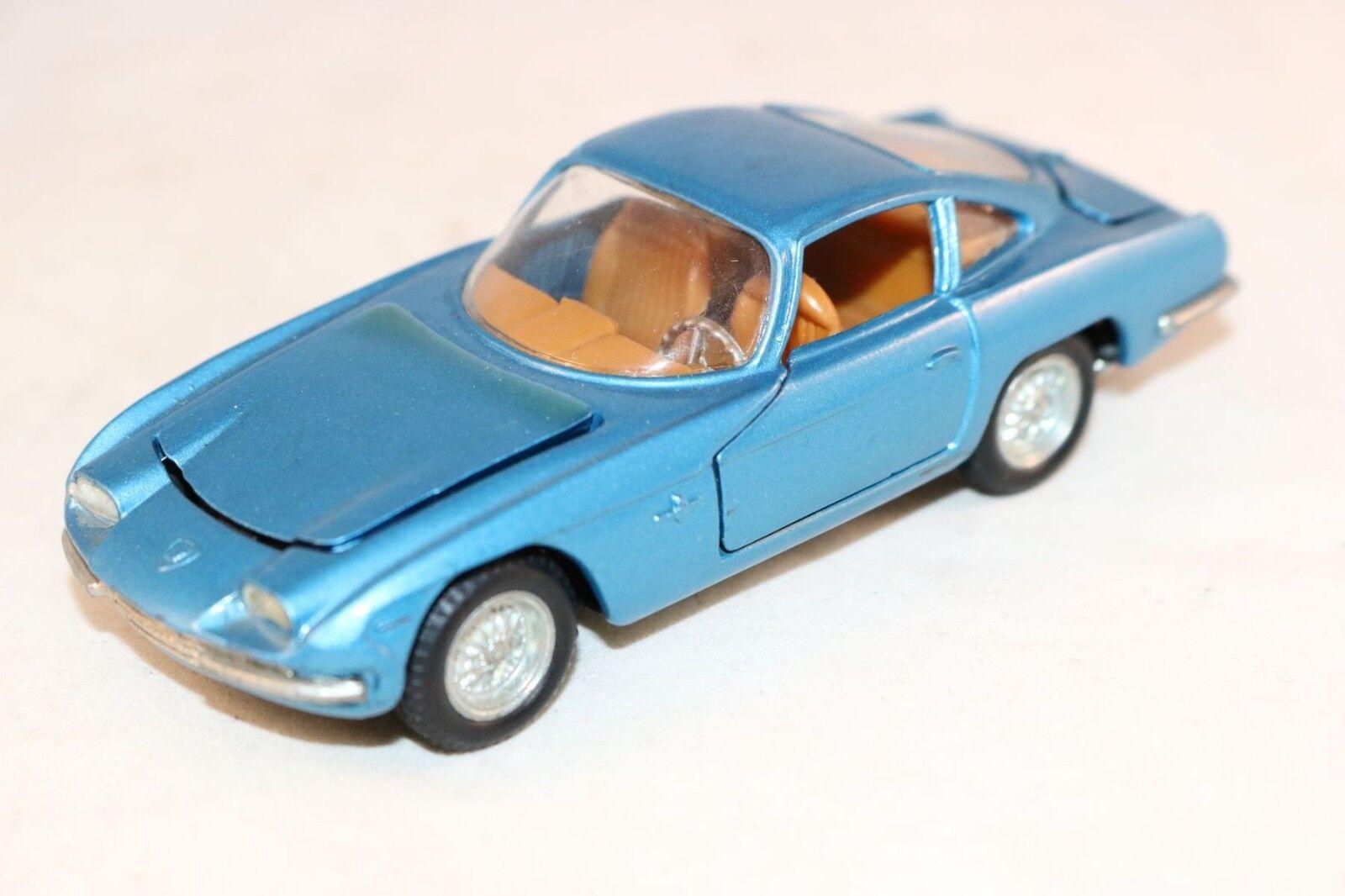 Politoys 539 Lamborghini bluee in mint all original condition very nice model