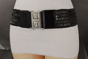 Womens Beaded High Waist Stretch Belt