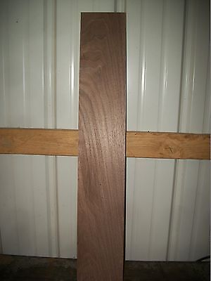 """1pc Walnut Lumber Wood Kiln Dried Board 34 5/16""""x 5 5/8""""x7/8"""" Lot 78i Clear Flat"""