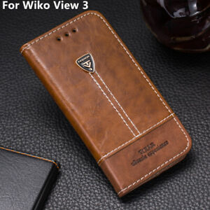 Card-Holder-Leather-Flip-Stand-Wallet-Phone-Case-Cover-6-26-039-039-For-Wiko-View-3