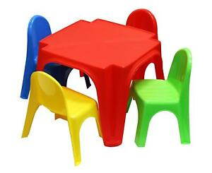 Image Is Loading Childrens Plastic Table And Chair Set Nursery Toddler