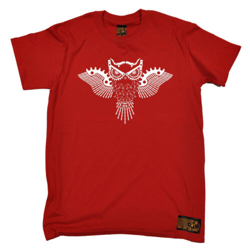 Owl Made up Of Bike Parts MENS RLTW T-SHIRT tee cycling cycle bicycle birthday