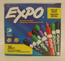 36pack Expo Assorted Intense Colors Chisel Tip Low Odor Ink Dry Erase Markers