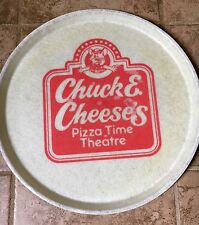 (2) 1980's vintage chuck e cheese pizza theatre -16 inch serving plate