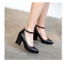 Women-039-s-Mary-Jane-Buckle-Ankle-Strap-High-Heels-Pointed-Toes-Block-Shoes-Casual thumbnail 4