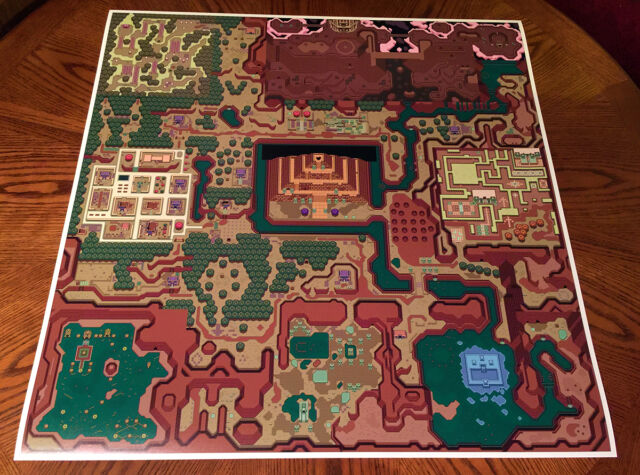 A Link To The Past Dark World Map.The Legend Of Zelda A Link To The Past Super Nintendo Snes Foldable