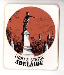 VINTAGE-1970-039-s-LIGHT-039-S-STATUE-ADELAIDE-Sticker-Souvenirs-Aust-P-L-VG