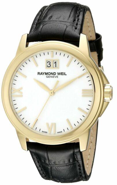 Raymond Weil Men's Tradition 39mm White Dial 18K Swiss Quartz Watch 5476-P-00307