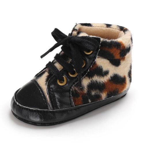 Baby First Walkers Léopard Princesse Chaussures Semelle Souple Chaussures De Loisirs Pour Bébé Fille