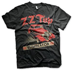 ZZ-Top-Eliminator-1983-Hot-Rod-Blues-Rock-Band-Musik-Tour-Maenner-Men-T-Shirt