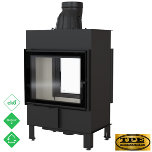 Details About Lucy 12 Tunnel Double Sided Fireplace Insert Cette Stove Wood Burner 12kw