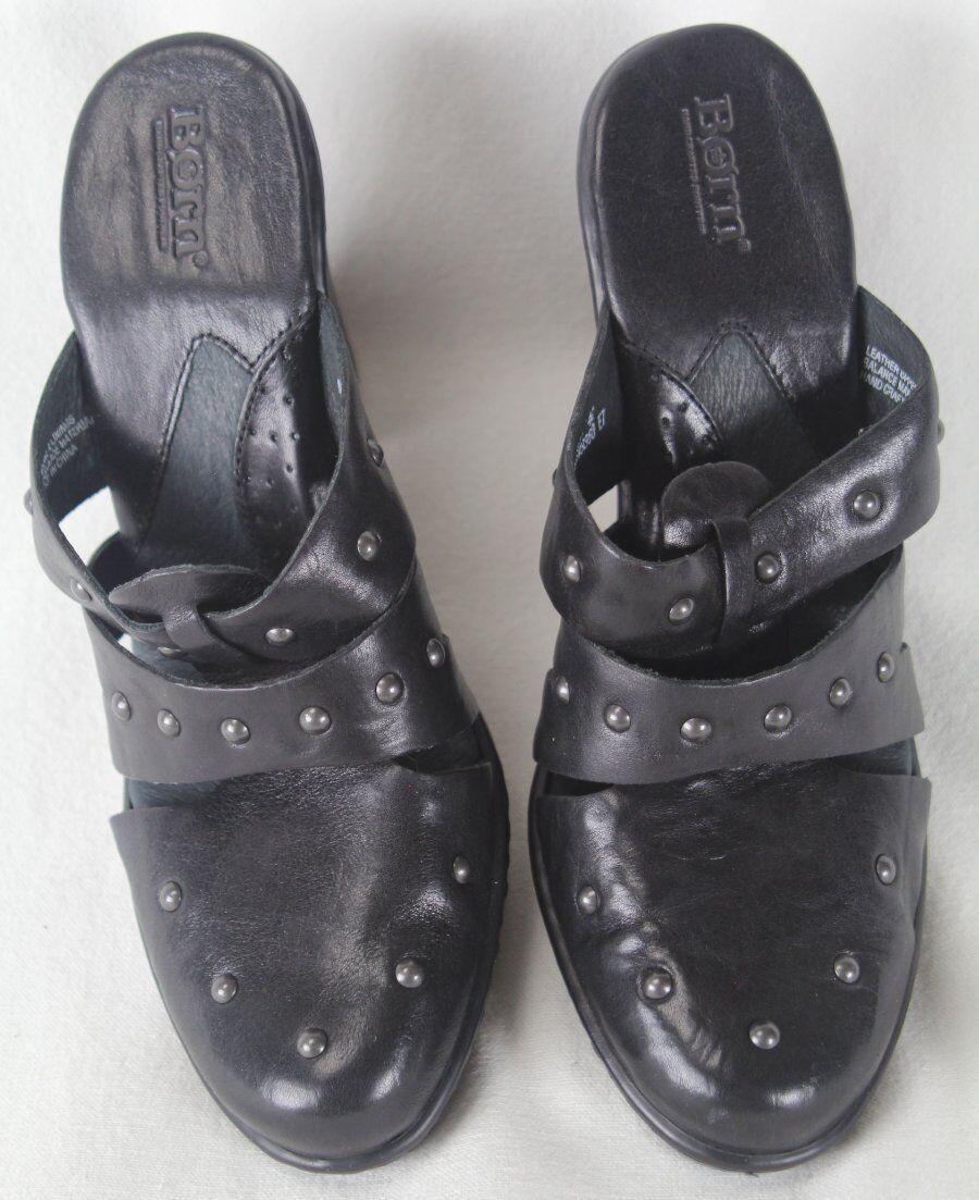 acquista la qualità autentica al 100% Born Alterna nero Slip On Heel Leather Studed Studed Studed scarpe M W NIB  economico e di alta qualità