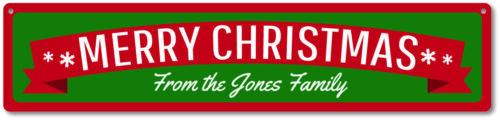 Merry Christmas Sign Custom Merry Christmas Banner Sign ENSA1000017