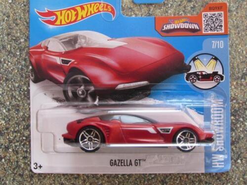 Hot Wheels 2016 #117//250 Gazella GT rouge HW SHOWROOM case E Nouveau casting 2016