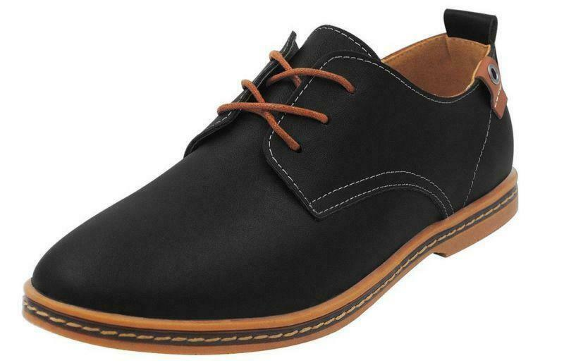 Mens Oxfords Casual Dress Office Formal Lace Up wedding business shoes plus size