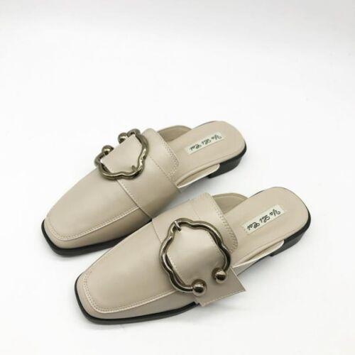 Comme Élégant Chaussons Confortable Cuir 9855 Basses Sabot Blanc qwaA7R
