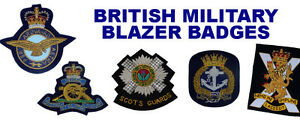 Wire-Embroidered-Blazer-badges-for-Scottish-UK-Army-Regiments-Corps-RAF