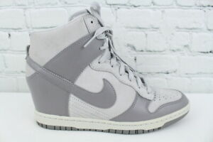 b7fe5bd8ec2 Nike Dunk Sky High 528899-005 Womens Canyon Gray Wedge Sneakers Size ...